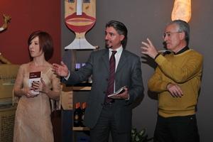 Da sinistra Chiara Bentivegna, Antonio Iacona e Pucci Giuffrida