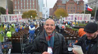 Biagio Privitera a Dallas per seguire la cerimonia in memoria di JFK