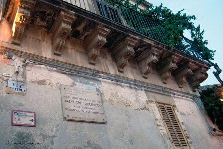 La casa di Salvatore Quasimodo a Modica  in via Posterla ph. Brunella Bonaccorsi