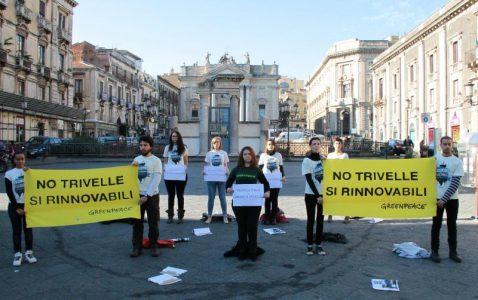 flash mob greenpeace contro trivellazioni