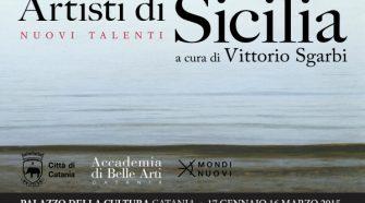 La locandina della mostra Artisti di Sicilia