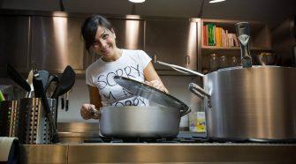 La gourmet Bianca Celano ai fornelli