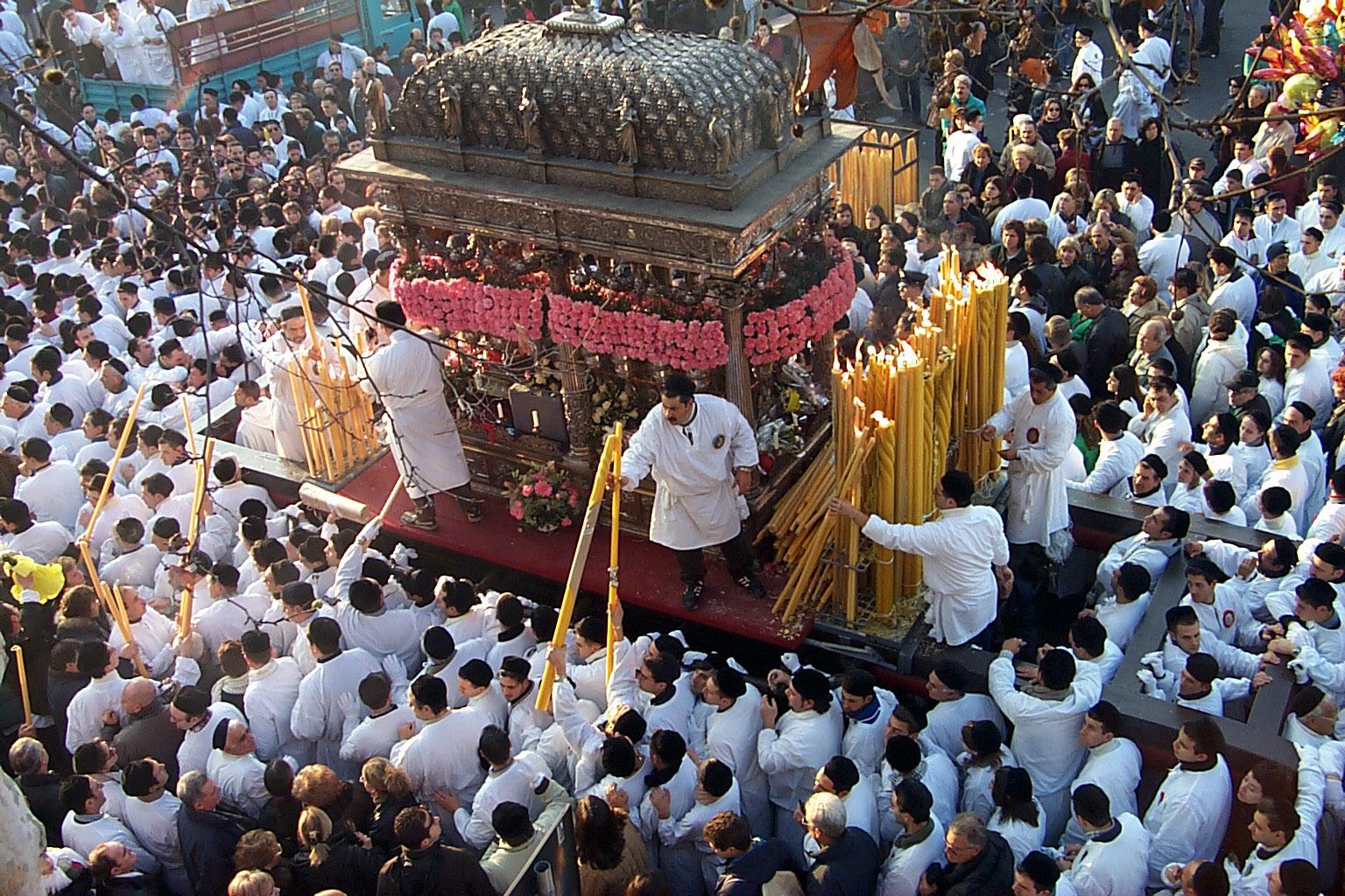 Un'immagine della festa di S.Agata
