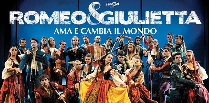 Nella foto il cast dello spettacolo Romeo e Giulietta-Ama e cambia il mondo