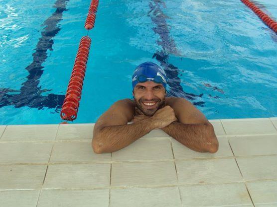 Nella foto Angelo Fonte, campione italiano nei 100 metri dorso.