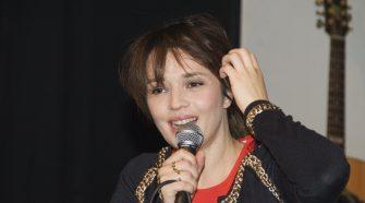 Carmen Consoli durante la conferenza stampa al Gatto blu. Foto Caterina Palermo