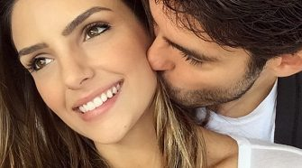 Il calciatore brasiliano Ricardo Kakà e la moglie Caroline Celico