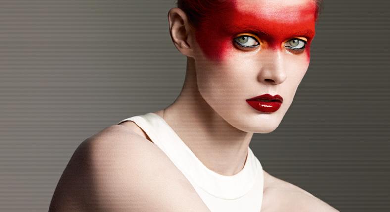 Nella foto un trucco realizzato dalla make up artist Lucia Pica