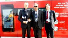 Nella foto Lucio Rossetto, amministratore delegato di Coop Sicilia, Francesco Caizzone, direttore del sito ST di Catania, Nino Lo Iacono, amministratore delegato di Wib durante l'inaugurazione di Coop Qui