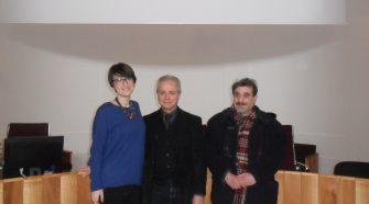 Nella foto Lina Scalisi, Fiorenzo Napoli e Ciccio Mannino a conclusione della conferenza che annunciava le novità per i Fratelli Napoli