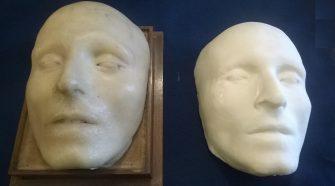 Nella foto la maschera di Vincenzo Bellini in 3D