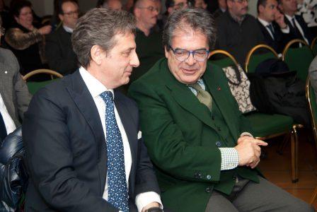 Nella foto Salvatore Abate, neo presidente di CdO Sicilia Orientale e il sindaco di Catania Enzo Bianco (foto di Brunella Bonaccorsi)