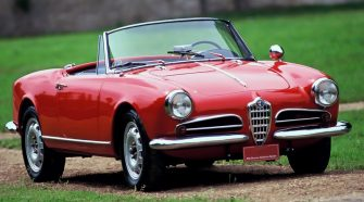 Un modello di Alfa Romeo d'epoca