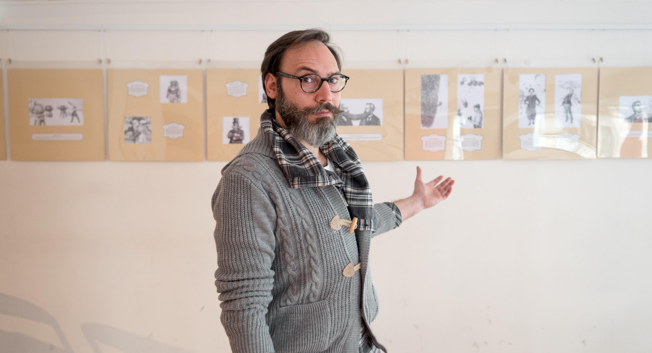 Nella foto Antonio Bonanno, autore di Mustacchi