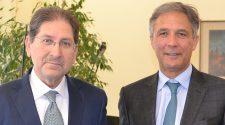 Da sinistra Paolo Cantano e il nuovo Direttore generale Angelo Pellicanò