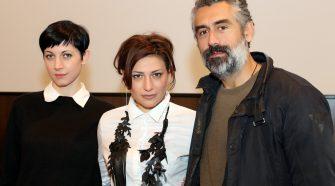 Nella foto i protagonisti de L'indecenza, da destra David Coco, Valeria Contadino e Elena Cotugno (foto di Antonio Parrinello)