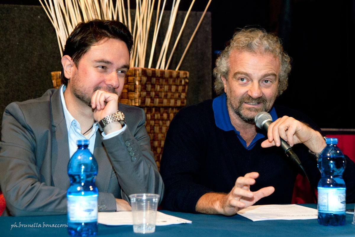 Rosario Scuderi e Giovanni Veronesi. Foto Brunella Bonaccorsi
