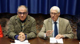 Nella foto da sinistra GIuseppe Dipasquale e Nino Milazzo, rispettivamente direttore e presidente del Teatro Stabile di Catania