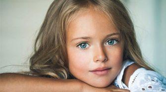 La piccola Kristina Pimenova. A nove anni già richiestissima top model