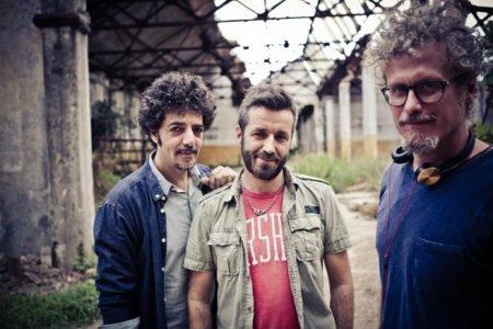 Nella foto Max Gazzé, Daniele Silvestri e Niccolò Fabi