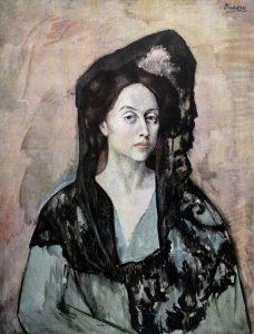 Opera di Pablo Picasso dal titolo Madame Canals della Serie Barcellona Suite 1966-02 © Succession by SIAE 2015