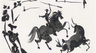Opera di Pablo Picasso dal titolo Alanceando a un toro della Serie Tauromachia, 1959, 02, © Succession Picasso by SIAE 2015
