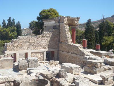 Creta, I resti del palazzo di Cnosso. Foto Brunella Bonaccorsi