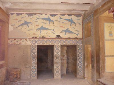 creta-grecia-5 La stanza dei delfini. Palazzo di Cnosso. Foto Brunella Bonaccorsi