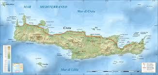 La cartina di Creta