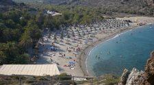 Creta, la bellissima spiaggia di Vai. Foto Brunella Bonaccorsi