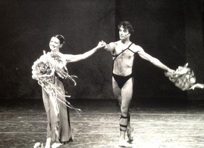 Carla Fracci e Rudolf Nureyev a Spoleto (foto di Virgilio Massani)