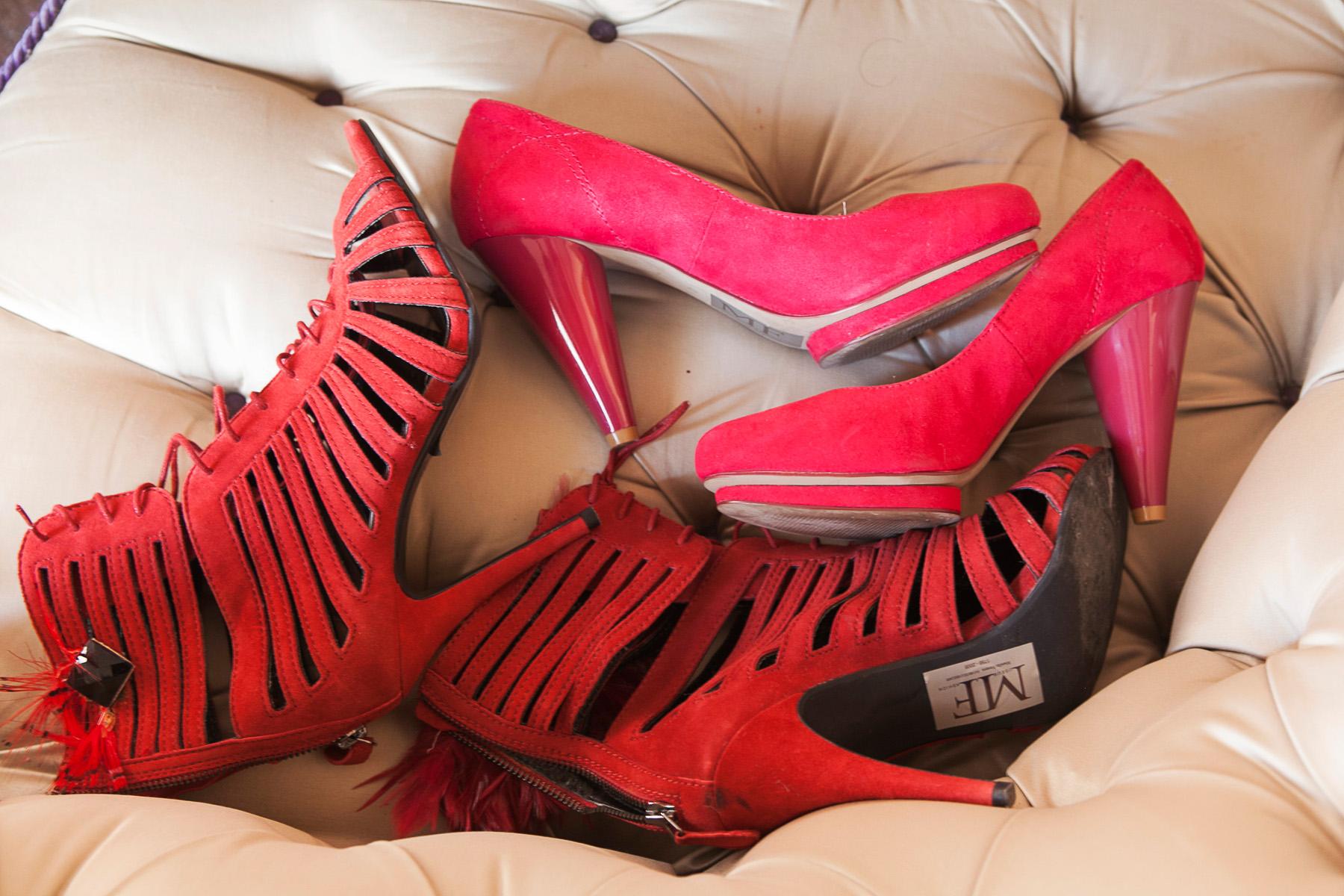 Nella foto le scarpe Marella Ferrera per Carmen Consoli (foto Valerio D'Urso)