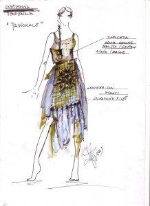 L'abito da contadina realizzato da Marella Ferrera per Pastorale