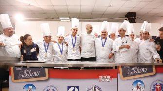 Gli chef intervenuti lo scorso anno a Expo Food & Wine, il salone dell'agroalimentare
