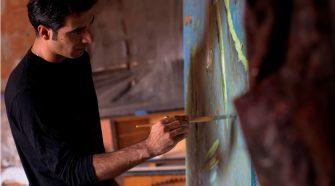 Fabio Salafia in studio (Foto di Michele Astuto)