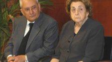 Nella foto Agata D'Amore, mamma di Maria Grazia Cutuli, con il marito