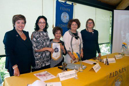 Da sinistra Cettina Corallo, Francesca Tremoglie, Caterina Sciuto, Maria Concetta Glorioso e Maria Ciancitto. Foto Brunella Bonaccorsi