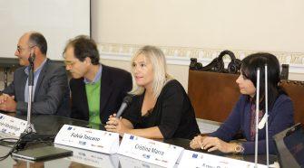 Festival del giallo, il tavolo dei relatori durante la conferenza stampa