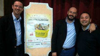 Presentazione Colletta Alimentare 2015 - Da sinistra Fabio Prestia, Federico Bassi e Domenico Messina