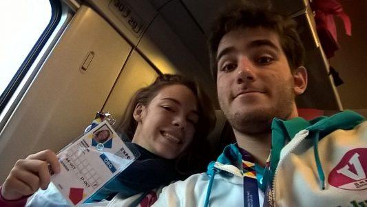Alessandro Borre e Chiara Giaccone, volontari di Expo