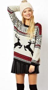 Classico maglione che si potrebbe indossare a Natale