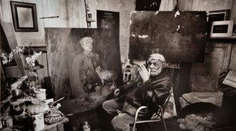 Il pittore Bruno Samperi