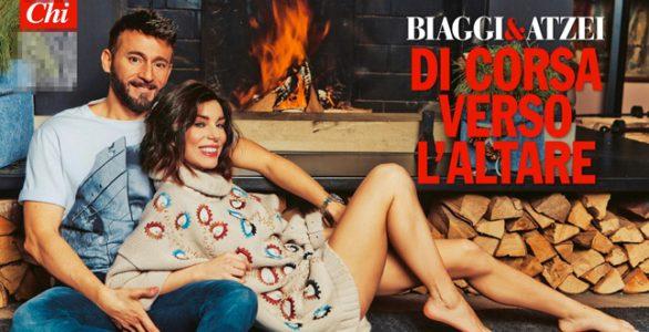 Max Biaggi e Bianca Atzei in posa per il settimanale Chi