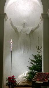 La statua dedicata a Papa Woitjla