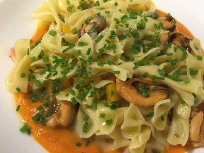 Uno dei piatti realizzati nel ristorante italiano aperto da Maurizio Saporito