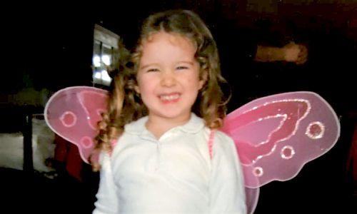 Aurora, figlia dello chef Baglieri in una foto di qualche anno fa.