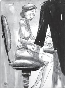 Una delle immagini della mostra Violate