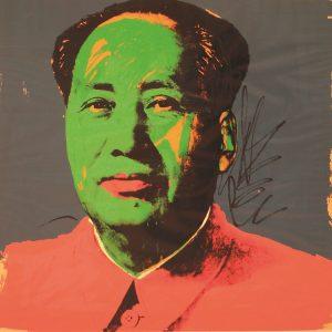 Mao Tse Tung, 1972, serigrafia su carta, pezzo unico fuori edizione. Collezione Privata