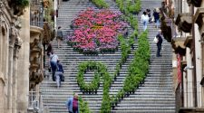 La scala infiorata di Caltagirone. Foto Annaloro