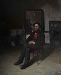 Daniela Astone, The Artist, 2014, olio su tela, cm 180x160